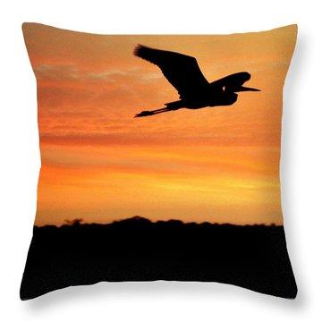 Flight At Dusk Throw Pillow by Allen Beilschmidt