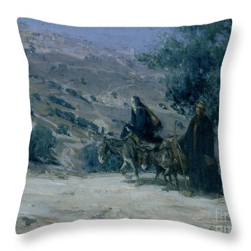 Flight Into Egypt Throw Pillow by Henry Ossawa Tanner