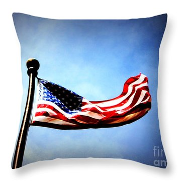Flight Of Freedom Throw Pillow