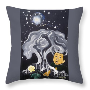 Flying Lamb Productions                Flight Of Hope Throw Pillow