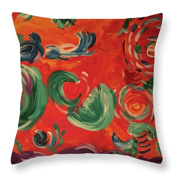Flight Of Lotus Throw Pillow