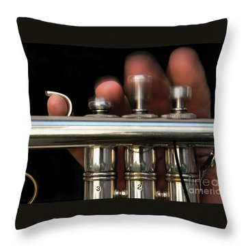 Flight Of The Bumblebee Throw Pillow by Dan Holm