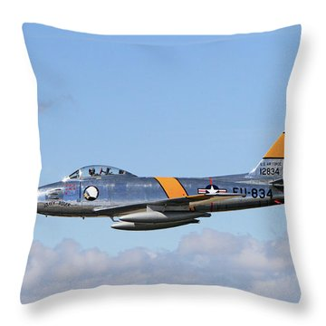 Flight Of The Sabre  Throw Pillow