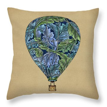 Throw Pillow featuring the painting Flight Pattern by Meg Shearer