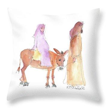 Road To Bethlehem 2017 Throw Pillow