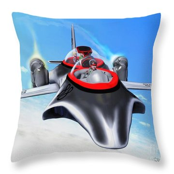 Throw Pillow featuring the painting Flight To Island 8 by Dave Luebbert
