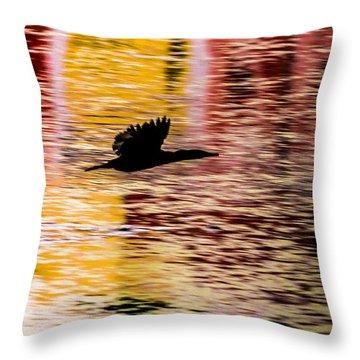 Flight To Solitude Throw Pillow