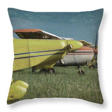 Throw Pillow featuring the photograph Flightline by James Barber