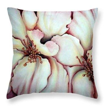 Flighty Floral Throw Pillow