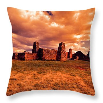 Throw Pillow featuring the photograph Flinders Ranges Ruins by Douglas Barnard