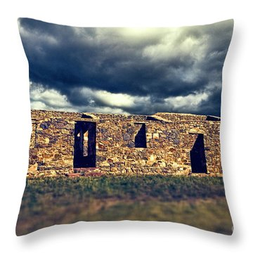 Throw Pillow featuring the photograph Flinders Ranges Ruins V2 by Douglas Barnard
