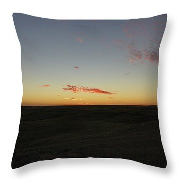 Flint Hills Dusk Throw Pillow