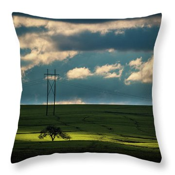 Throw Pillow featuring the photograph Flint Hills Power 2 by Jeff Phillippi