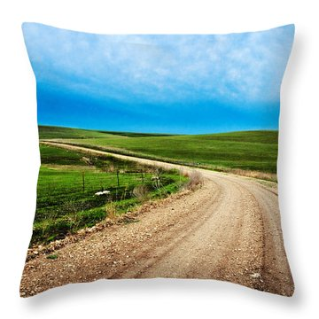 Flint Hills Spring Gravel Throw Pillow