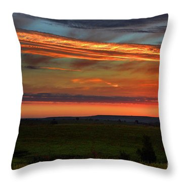 Flint Hills Sunrise Throw Pillow