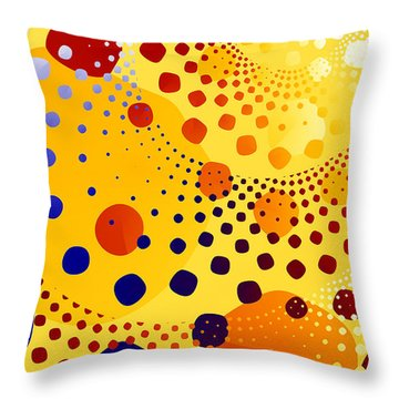 Throw Pillow featuring the digital art Flint Stones by Fran Riley