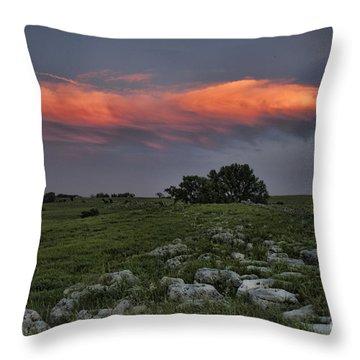 Flinthills Sunset Throw Pillow