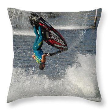 Jet Water Stunt Extreme  Throw Pillow