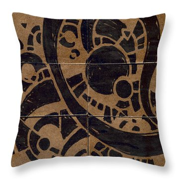 Flipside 1 Panel A Throw Pillow