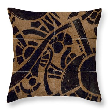 Flipside 1 Panel B Throw Pillow