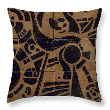 Flipside 1 Panel C Throw Pillow