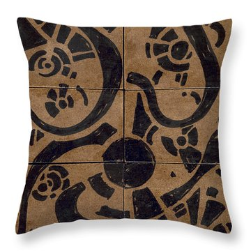 Flipside 1 Panel D Throw Pillow