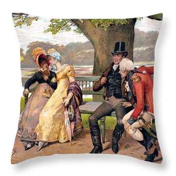 Flirtation, C1810 Throw Pillow by Granger