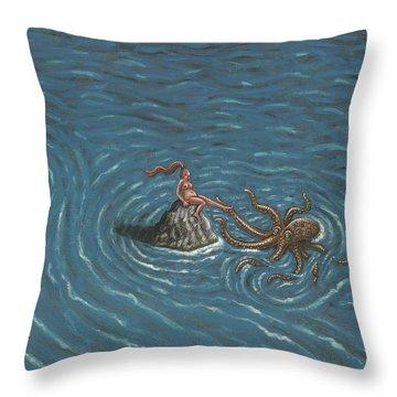Flirtation Throw Pillow by Holly Wood