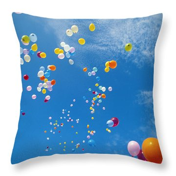 Float Away Throw Pillow by Bob Abraham - Printscapes