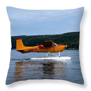 Float Plane Two Throw Pillow