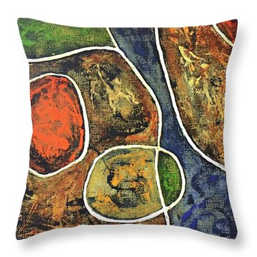Floater 881 Throw Pillow by Shelley Graham Turner