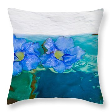 Floaters Throw Pillow