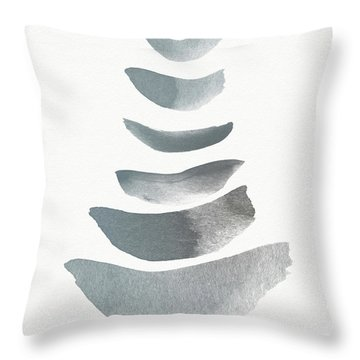 Floating 1- Zen Art By Linda Woods Throw Pillow