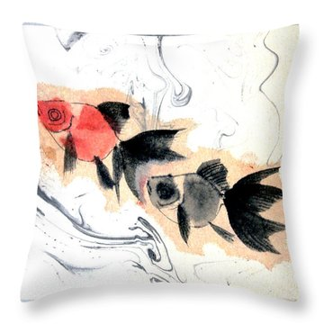 Floating 12030005fy Throw Pillow