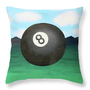 Floating 8 Throw Pillow
