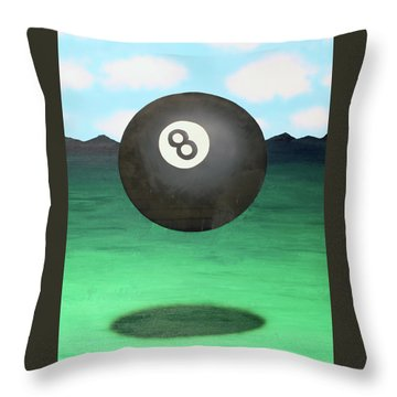 Floating 8 Throw Pillow by Thomas Blood