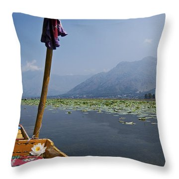Floating Adventure... Throw Pillow by Nina Stavlund