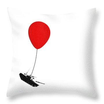 Floating Away  Throw Pillow by Pixel Chimp