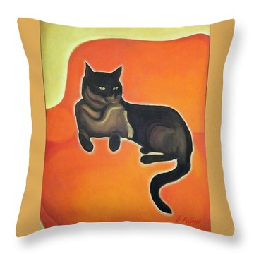 Floating Bebe Throw Pillow by Denise Fulmer