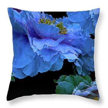 Floating Bouquet 14 Throw Pillow