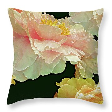 Floating Bouquet 31 Throw Pillow