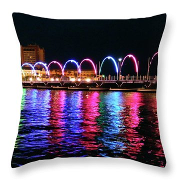 Throw Pillow featuring the photograph Floating Bridge, Willemstad, Curacao by Kurt Van Wagner