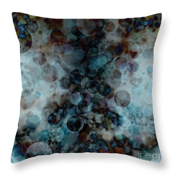 Floating Bubbles Throw Pillow by Michal Boubin