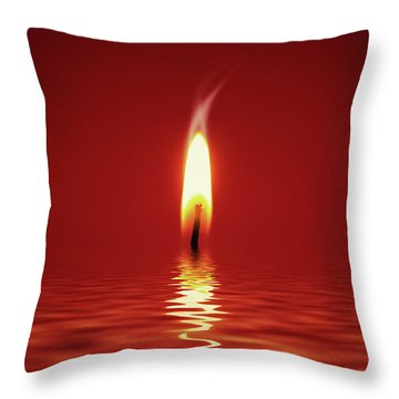Floating Candlelight Throw Pillow