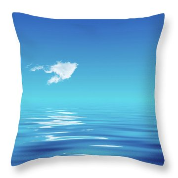 Floating Cloud Throw Pillow