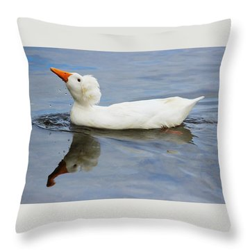 Floating Duck Throw Pillow