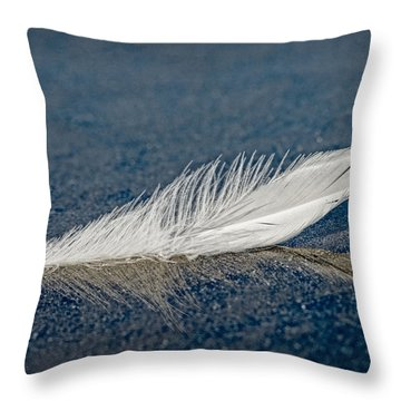 Floating Feather Reflection Throw Pillow