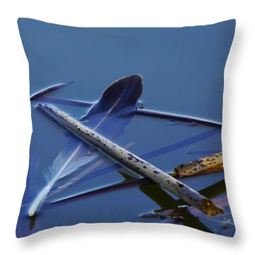 Floating Feather Throw Pillow