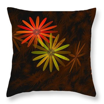 Floating Floral-008 Throw Pillow by David Lane