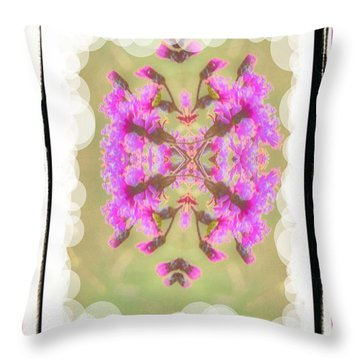 Throw Pillow featuring the photograph Floating Flowers by Shirley Moravec